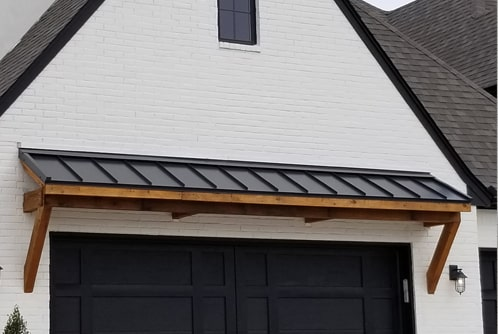 Standing Seam Roof over a garage